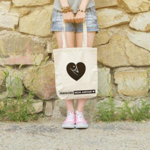 Sac en toile tote-bag Périgord Dordogne idée cadeau