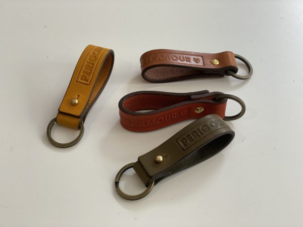 Porte-clés Périgord en cuir Dordogne